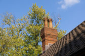Old brick chimney — Stock Photo