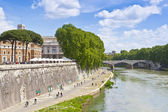 Tiber river in Rome, Italy — Stock Photo