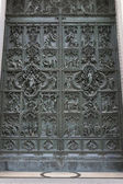Door of Milan Cathedral, Italy — Stock Photo