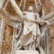 Saint Andrew Statue in the Basilica of Vatican in Rome. — Stock Photo