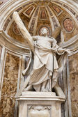 Saint Andrew Statue in the Basilica of Vatican in Rome. — Foto de Stock