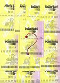 Non vincente powerball biglietti della lotteria. — Foto Stock