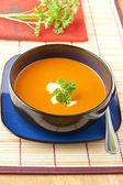 Rajče a paprika polévka — Stock fotografie