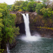 Stock Photo: Rainbow Falls in a rainforest on Hawaii, Big Island, USA