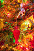 Close up of decorated Christmas tree, can be used as background — Stock fotografie