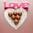 Chocolate with love for Valentines day. — Stock Photo