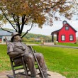 Statue of J. Beam at Jim Beam Distillery - Stok fotoğraf