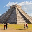 El Castillo pyramid at the Maya archaeological site of Chichen I - Stock Photo