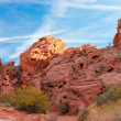 The unique red sandstone rock formations in Valley of Fire State — Stock Photo