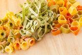 Variety of types and shapes of Italian pasta. — Stock Photo