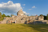 El Caracol is ancient Maya observatory in archaeological site o — Stock Photo