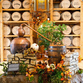 Ausstellung in heaven hill distilleries bourbon erbe-mitte. — Stockfoto