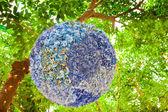 Silk flowers design in a garden. — Stock Photo