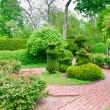 Formal garden at spring — Stock Photo