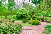 Formální zahrada na jaře — Stock fotografie