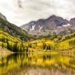 Mountain lake landscape on a cloudy day. — Stock Photo #27057453