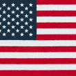 American  Flag.  Miniature  version printed in bright colors on — Stock Photo