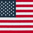 Stock Photo: American Flag. Miniature version printed in bright colors on