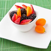 Salad with fresh fruits and berries. — Stock Photo