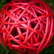 Red tangle ball macro texture background — Stock Photo #29524281