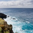 Ocean and the coast line of Big Island, Hawaii — Stock Photo
