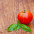 Tomato and basil  — Stock Photo