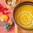 Pumpkin soup in a bowl. — Stock Photo