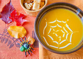 Pumpkin soup in a bowl. — Stock Photo