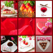 Stock Photo: Beautiful Valentines day collage