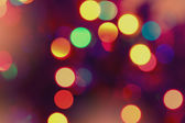 Abstract circle lights blur bokeh background — Stock Photo