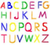 Hand drawn abc letters. — Foto de Stock
