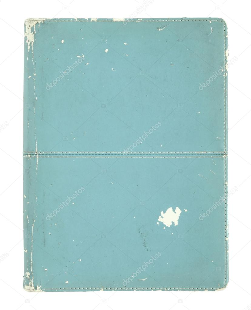 Book Cover White Background ~ Old book cover isolated on a white background — stock