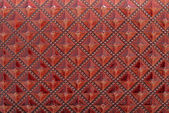 Red leather texture for background — Stok fotoğraf