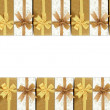 Royalty-Free Stock Photo: Gift box with colored ribbons