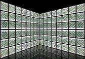 Glass Block Wall Room — Stock Photo