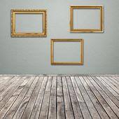 空の図枠とインテリアお部屋 — ストック写真