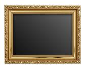 孤立在白色背景上的黄金图片框架 — 图库照片