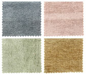 Set of carpet swatch texture samples — Stock Photo