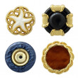 Various sewing buttons isolated on white with clipping path — Stock Photo