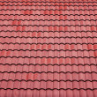 Red tiles roof background — Stock Photo