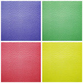 Set of leather samples texture for background — Stock Photo