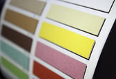 Color fabric swatch samples — Stock Photo