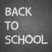Back to school text written on blackboard for background — Stock Photo