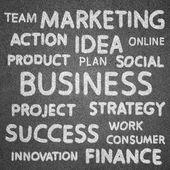 Concepto del negocio en la pizarra para el fondo — Foto de Stock