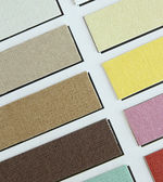 Color tone of fabric swatch samples — Stock Photo