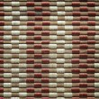 Bamboo woven mat texture or seamless background — Stock Photo #47023689