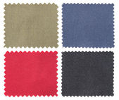Set of fabric swatch samples texture — Stock Photo