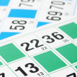 Stock Photo: Bingo cards and number thirteen