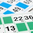 Bingo cards and number thirteen — Stock Photo