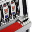 Stock Photo: Slot machine and jackpot three seven